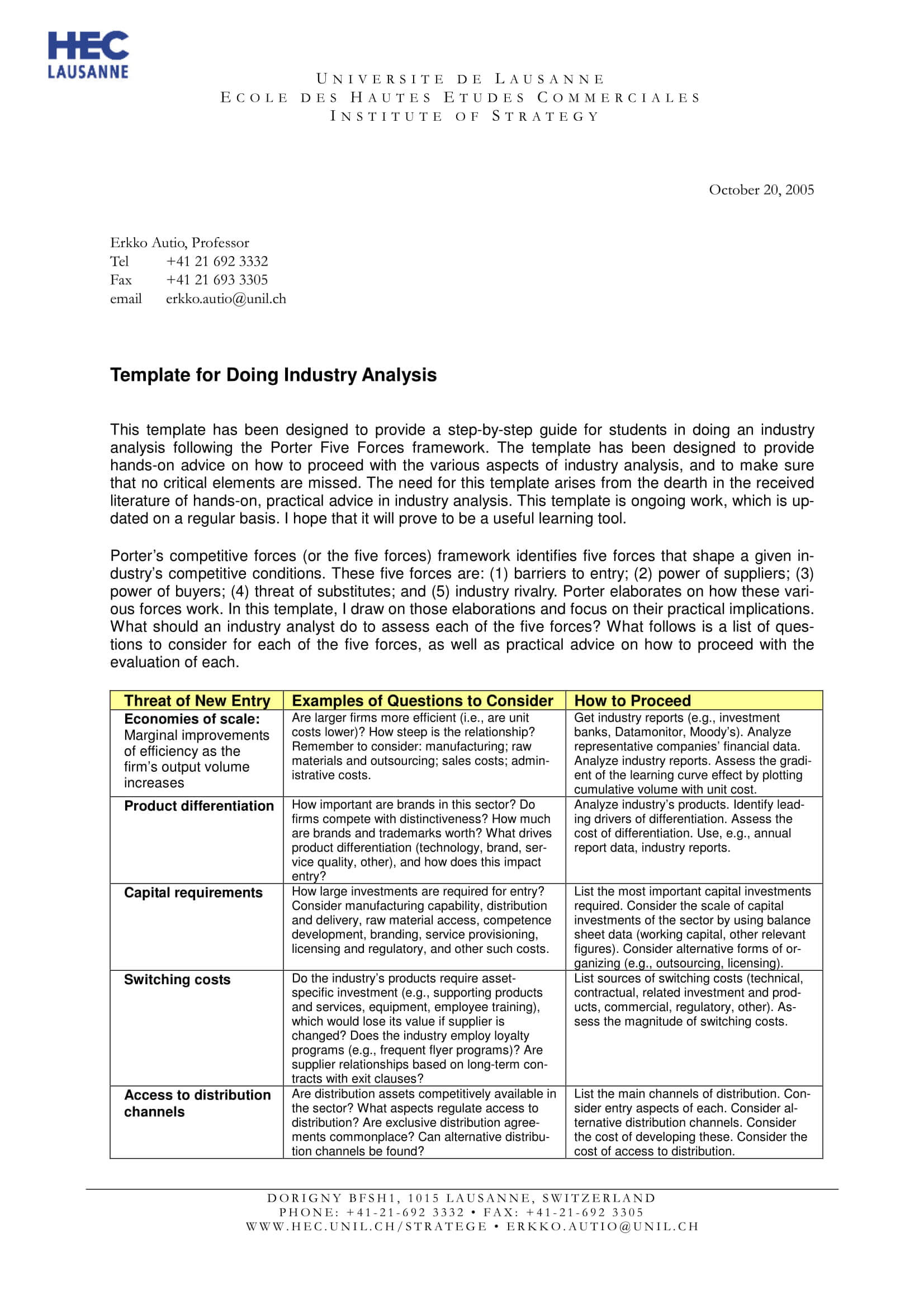 9+ Industry Analysis Examples - Pdf | Examples in Industry Analysis Report Template