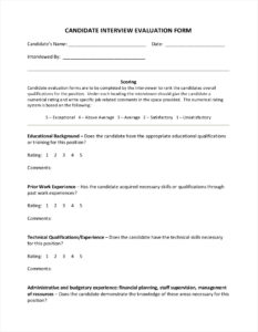 9+ Interview Evaluation Form Examples & Samples In Pdf for Blank Evaluation Form Template