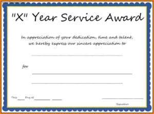 9+ Loyalty Award Certificate Examples  Pdf | Examples In Long Service Certificate Template Sample
