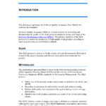 9+ Software Quality Assurance Plan Examples - Pdf   Examples in Software Quality Assurance Report Template