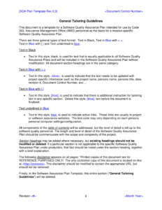 9+ Software Quality Assurance Plan Examples – Pdf | Examples inside Software Quality Assurance Report Template