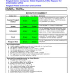 9+ Status Report Examples – Doc, Pdf   Examples Within Executive Summary Project Status Report Template