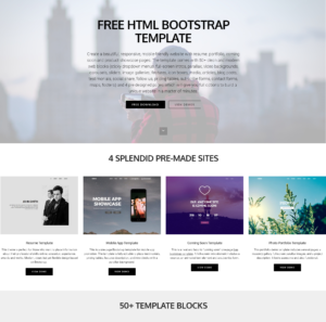 95+ Free Bootstrap Themes Expected To Get In The Top In 2019 inside Blank Html Templates Free Download