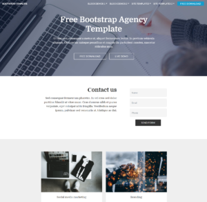 95+ Free Bootstrap Themes Expected To Get In The Top In 2019 pertaining to Blank Html Templates Free Download