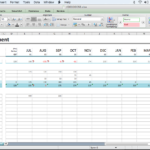 A Beginner's Cash Flow Forecast: Microsoft's Excel Template Intended For Cash Position Report Template