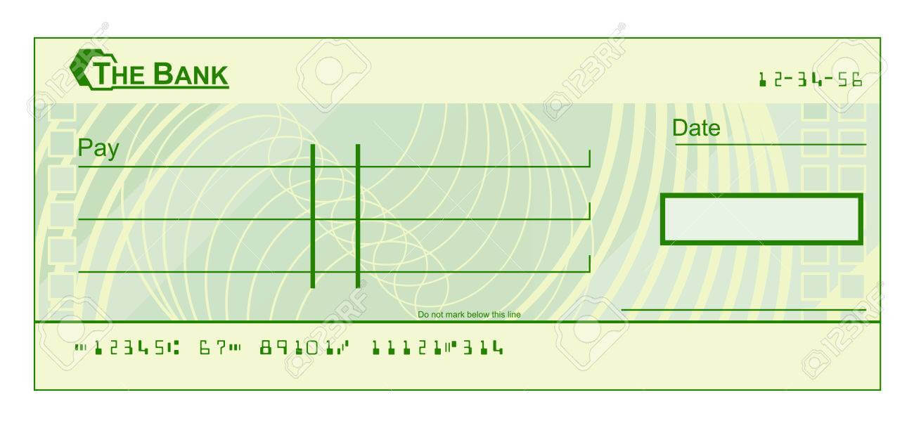 A Blank Cheque Check Template Illustration In Blank Cheque Template Download Free