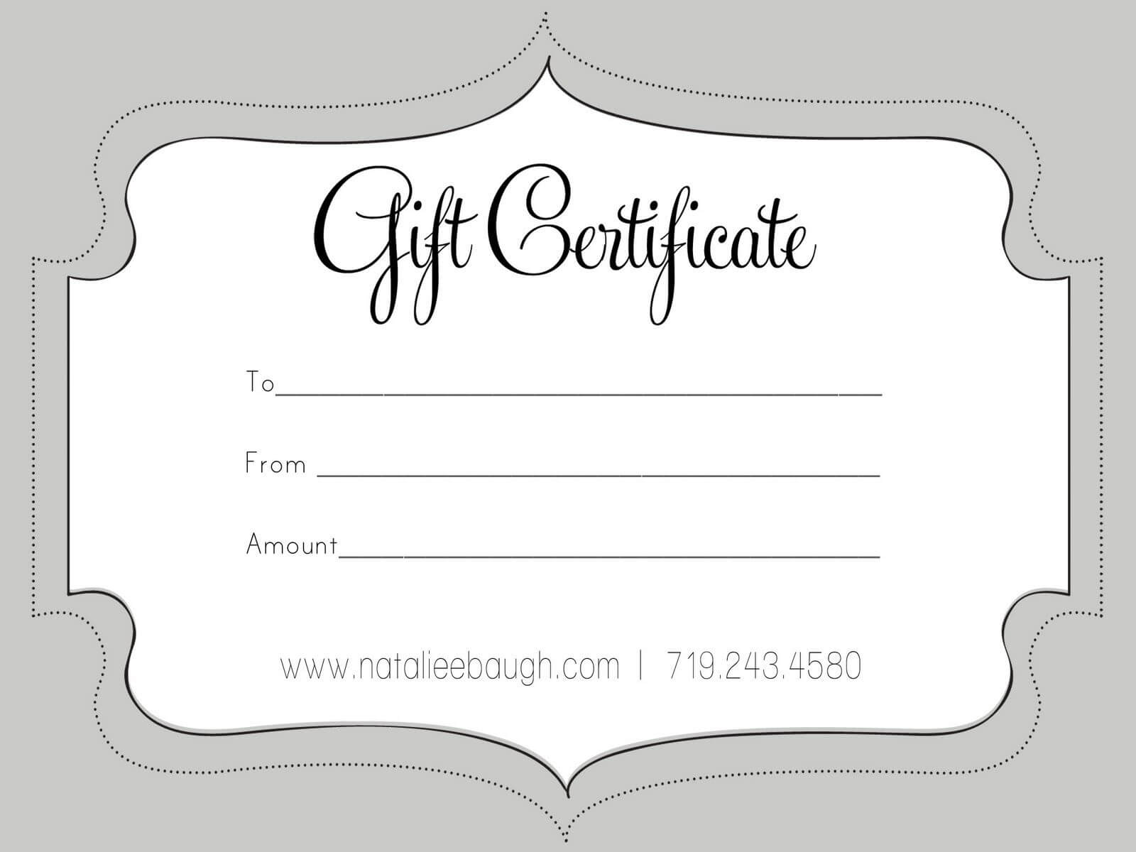 A Cute Looking Gift Certificate | S P A | Gift Certificate With Black And White Gift Certificate Template Free