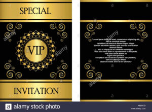 A Golden Vip Invitation Card Template That Can Be Used For for Event Invitation Card Template