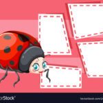 A Ladybug On Note Template For Blank Ladybug Template