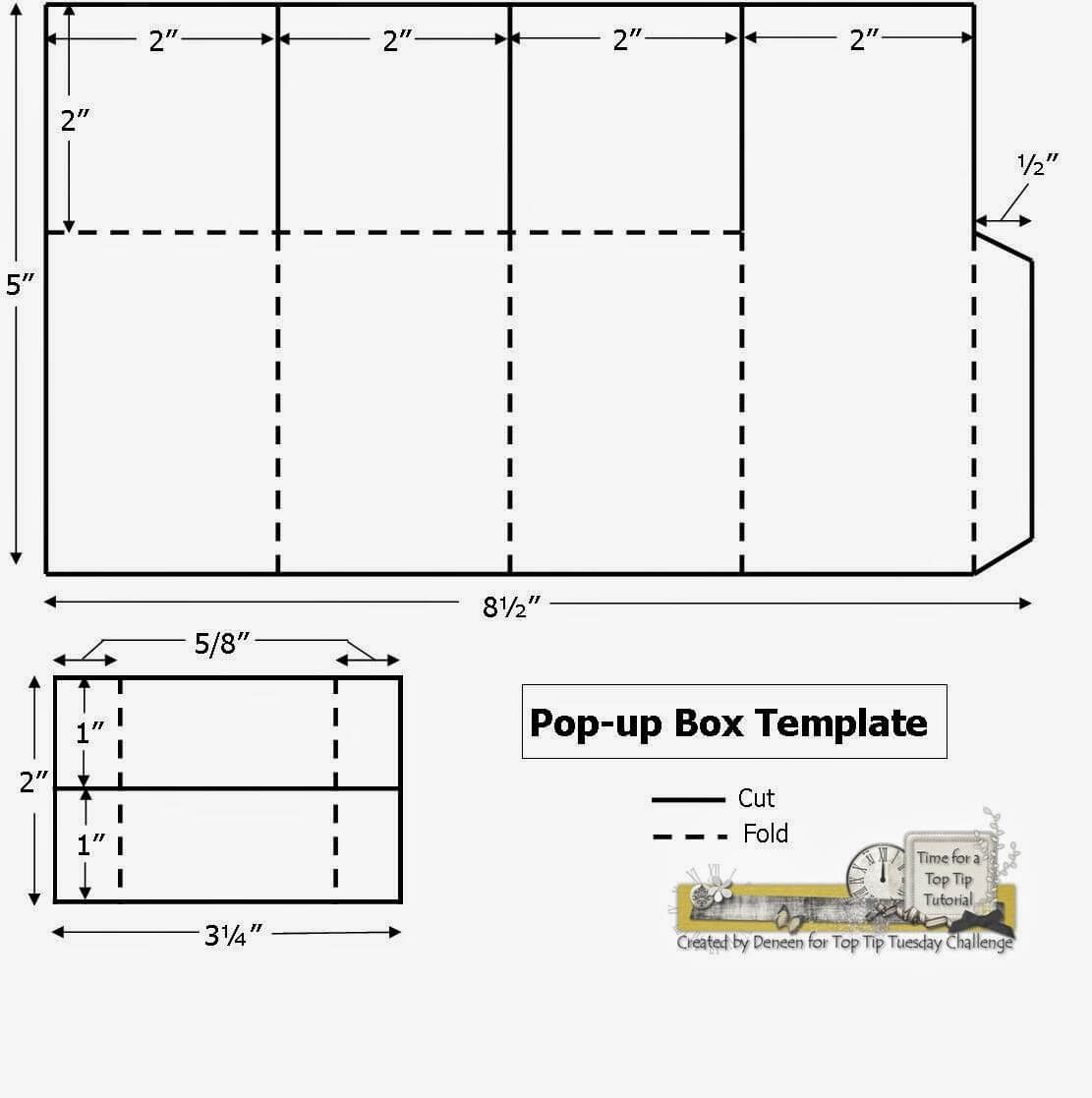 A Path Of Paper: Top Tip Tuesday Numbers Challenge And Pop In Pop Up Card Box Template