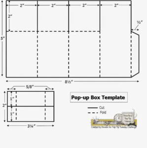 A Path Of Paper: Top Tip Tuesday Numbers Challenge And Pop with Pop Up Box Card Template