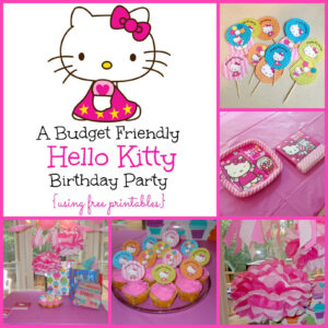 A Super Sweet Hello Kitty Birthday Party Using Free Printables regarding Hello Kitty Birthday Banner Template Free