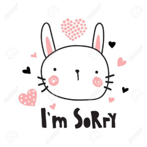 A Vector Template Of A Greeting Card, I'm Sorry Text And Cute.. within Sorry Card Template
