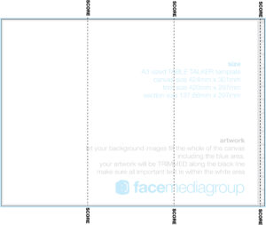 A3 Tri-Fold Table Talker Template | Photo Page – Everystockphoto with Tri Fold Tent Card Template