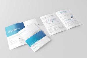 A4 4 Fold Brochure Mockuptoasin Studio On Pertaining To 4 Fold Brochure Template