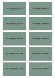 A4 Business Card Template Psd (10 Per Sheet) | Business pertaining to Photoshop Name Card Template