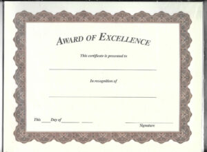 A8 New Office Michaels Certificate Of Achievement 10 Pack in Michaels Place Card Template