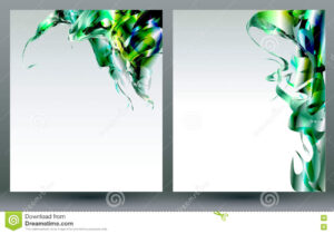 Abstract Blank Backgrounds Templates Stock Vector With Regard To Blank Templates For Flyers