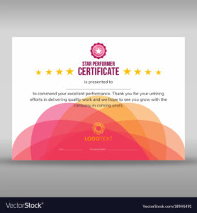 Abstract Creative Pink Star Performer Certificate pertaining to Star Performer Certificate Templates