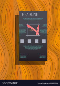Abstract Flyer Design Background Brochure Template Vector Image On  Vectorstock within Brochure Templates Adobe Illustrator