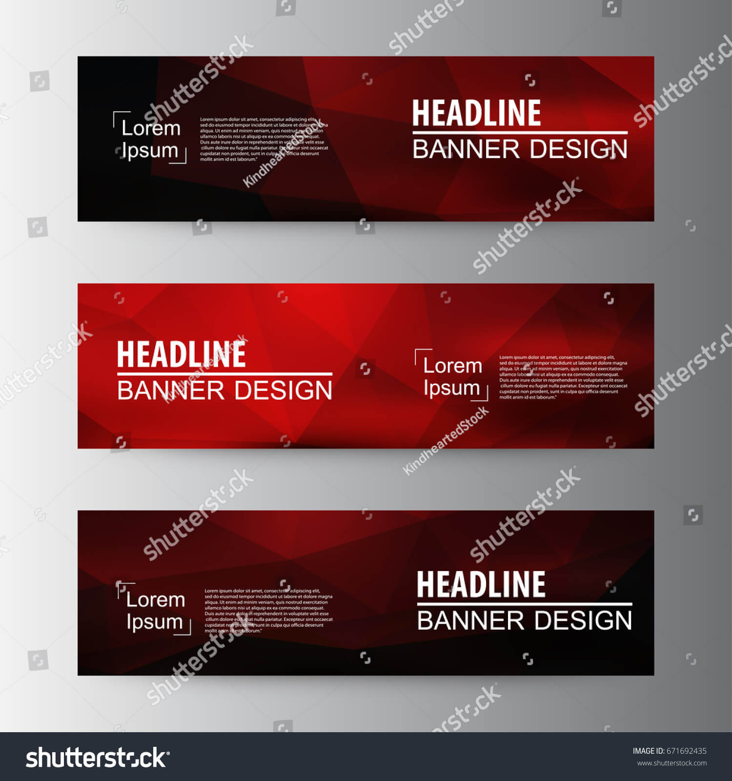 Abstract Geometric Vector Web Banner Design Stock Vector For Website Banner Design Templates
