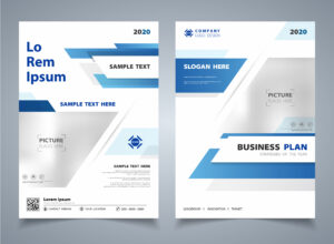 Abstract Gradient Blue Color Of Modern Technology Brochure for Technical Brochure Template
