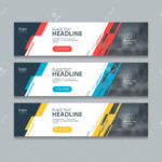Abstract Horizontal Web Banner Design Template Backgrounds In Website Banner Design Templates
