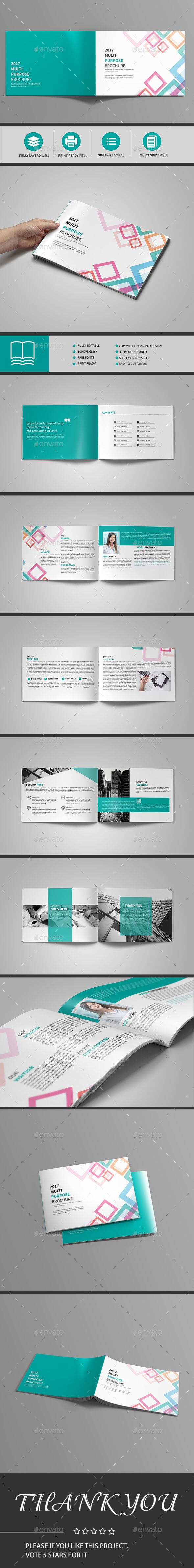 Abstract Landscape Brochure 12 Page — Indesign Template With 12 Page Brochure Template