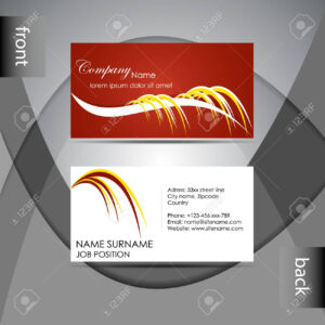 Abstract Professional Business Card Template Or Visiting Card.. inside Professional Name Card Template