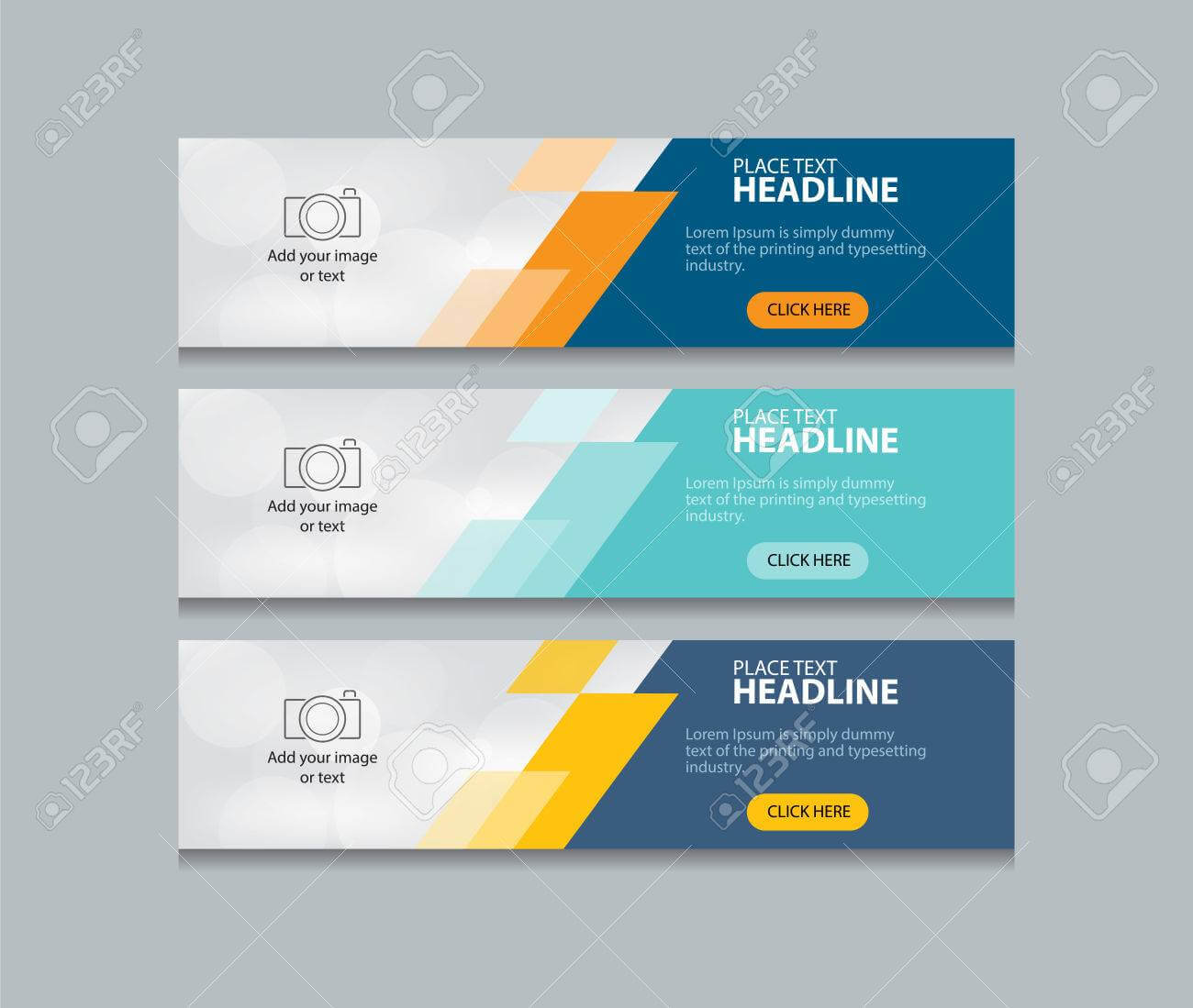 Abstract Web Banner Design Template Background Inside Website Banner Design Templates