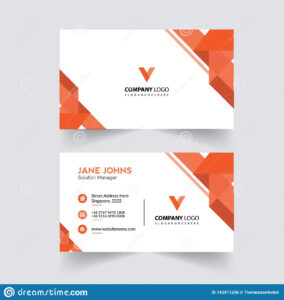 Abstruct Business Card Template Stock Illustration within Adobe Illustrator Business Card Template