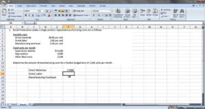 Acc 121 – Preparing A Flexible Budget regarding Flexible Budget Performance Report Template