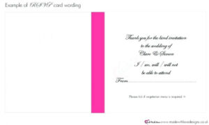 Acceptance Card Template Complete Wording Wedding Templates with Acceptance Card Template