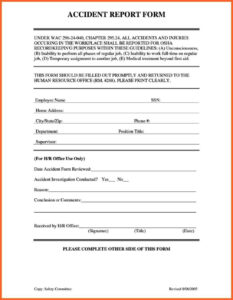 Accident Book Template – Www.toib.tk within Incident Report Book Template