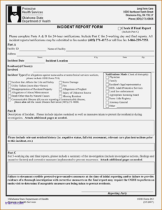 Accident Report Form Template Word Uk Hse For Workplace Car intended for Hse Report Template