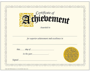 Achievement-Certificate-Best-Of-Trend-Enterprises-Classic throughout Certificate Of Achievement Template Word