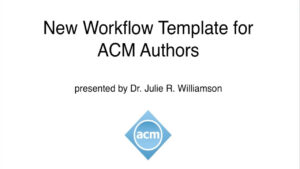 Acm Master Article Templates And Publication Workflow intended for Scientific Paper Template Word 2010