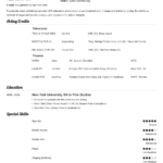 Acting Resume: Template, Sample & Actor Resume Advice [20+ Tips] Regarding Theatrical Resume Template Word