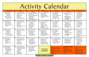 Activity Calendar Template – Printable Week Calendar pertaining to Blank Activity Calendar Template