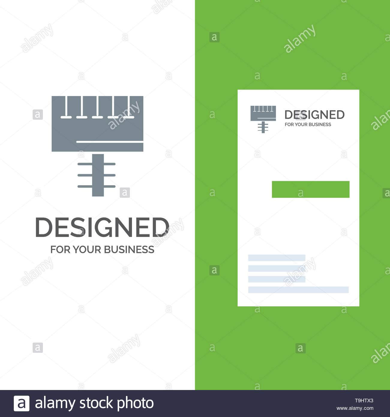 Ad, Advertising, Board, Signboard Grey Logo Design And Throughout Advertising Card Template