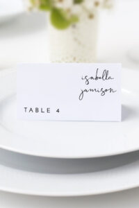 Adella – Modern Place Card Template, Minimalist Place Card, Wedding Place  Cards Printable, Table Name Cards, Templett Place Card Instant regarding Table Name Card Template