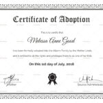Adoption Certificate Design Template pertaining to Adoption Certificate Template
