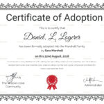 Adoption Certificate Template Word   Certificatetemplateword For Child Adoption Certificate Template
