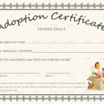 Adoption Certificate Template You Will Never Believe These pertaining to Blank Adoption Certificate Template