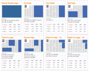 Advertising & Media Info | X-Ray Mag in Advertising Rate Card Template