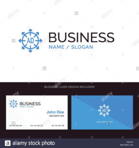 Advertising, Submission, Advertising Submission, Ad Blue with Advertising Card Template