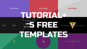 After Effects Tutorial – .gif Animated Banner & 5 Free Templates inside Animated Banner Templates