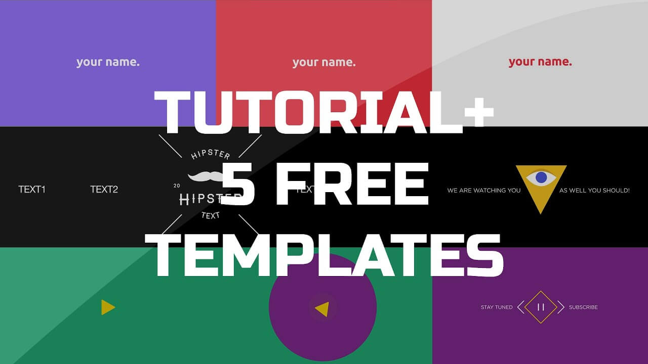 After Effects Tutorial - .gif Animated Banner & 5 Free Templates Inside Animated Banner Templates