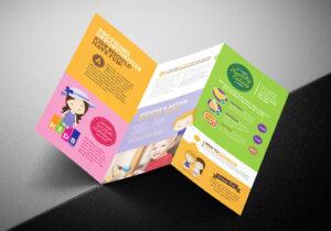 After School Care Tri-Fold Brochure Template In Psd, Ai inside Tri Fold School Brochure Template
