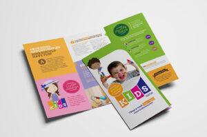 After School Care Tri-Fold Brochure Template In Psd, Ai intended for Tri Fold School Brochure Template
